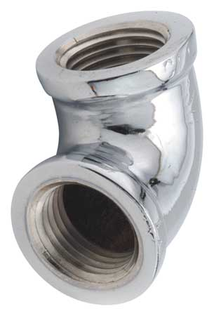 "1/8"" FNPT Chrome Plated Brass 90 Degree Elbow"