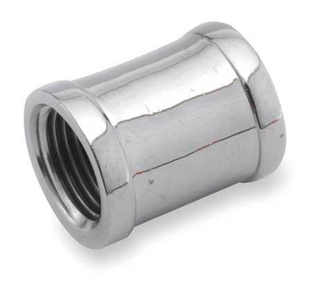"1/8"" FNPT Chrome Plated Brass Coupling"