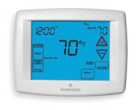 Thermostat,  7 Day Programmable,  Stages 4 Heat/2 Cool