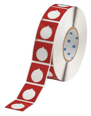 Push Button Label, Red, Polyester