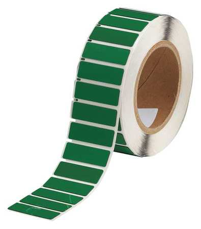 Label, Green, Glossy Polyester, 1-3/4 In. W