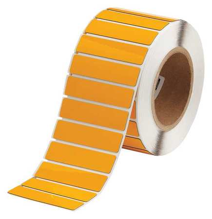 "3"" x 3/4"" Yellow Adhesive Label,  Glossy Polyester"