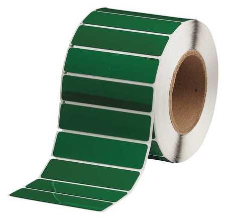 "Blank Label 4""W Green,  Glossy Polyester,  Pk500"