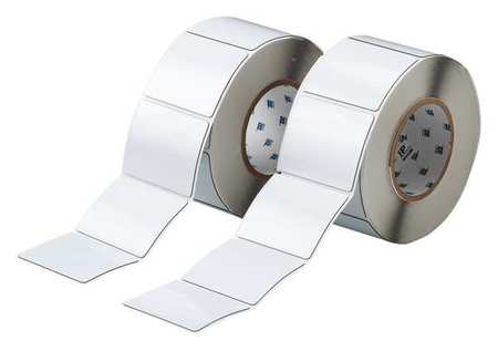 "3.000"" x 2-1/2"" White Adhesive Label,  Glossy Polyester"
