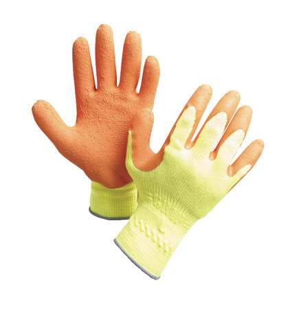 Cut Resistant Gloves, XL, Yellow/Orange, PR