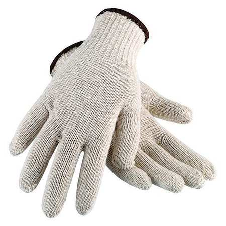 String Knit Gloves,  Cotton,  White,  Large