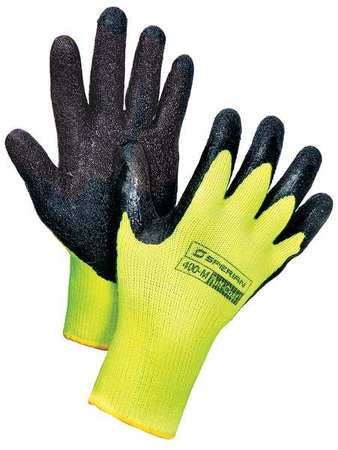 Cut Resistant Gloves, M, Black/Yellow, PR