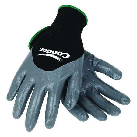 Coated Gloves, XL, Black/Gray, PR