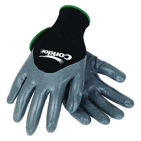 Coated Gloves, S, Black/Gray, PR