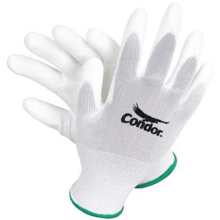 Coated Gloves, XL, White, PR