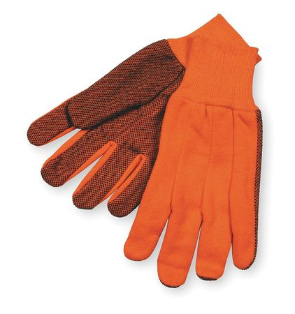 Jersey Gloves, Cotton,  S, High Visibility Orange, PR