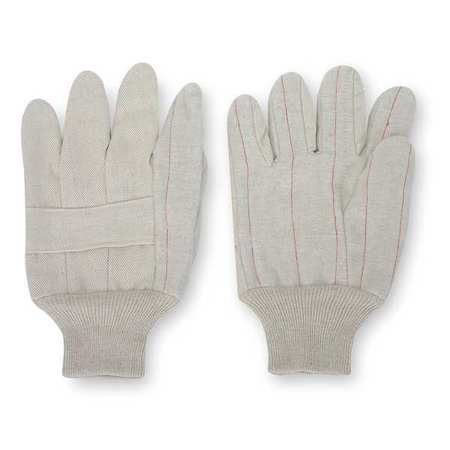 Canvas Gloves, Poly/Cotton,  L, Natural, PR