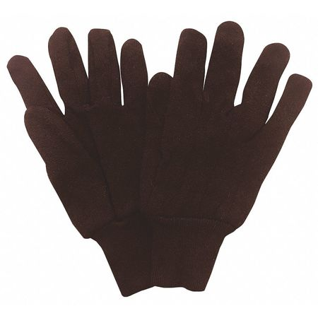 Jersey Gloves, Poly/Cotton,  S, Brown, PR