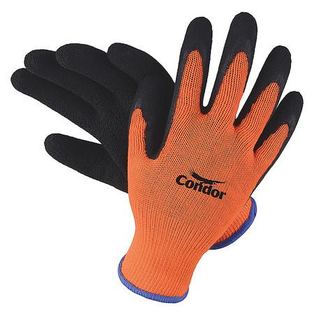 Coated Gloves, S, Black/Orange, PR