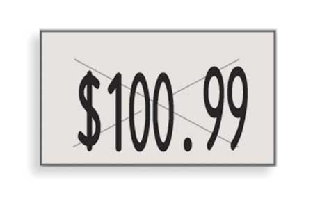 Pricing Labels, 1-Line, White, PK16