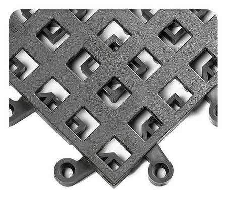 "Interlock Drainage Mat, Gray, 18""x18"", PK10"