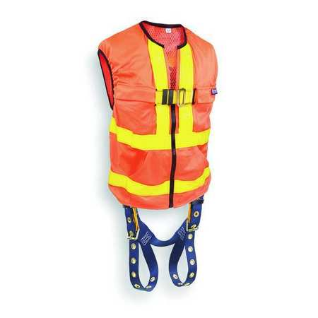 Full Body Harness, Universal, 420 lb., Orng