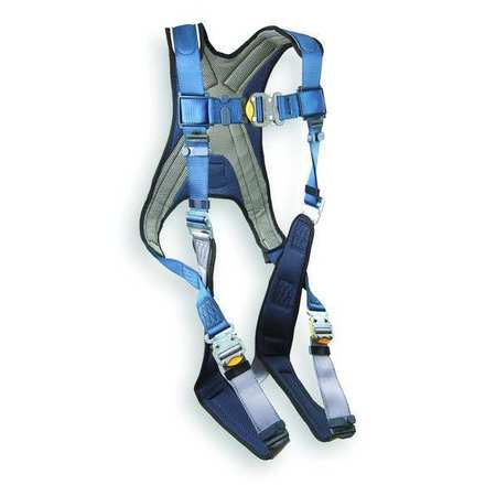 Full Body Harness, XL, 420 lb., Blue/Gray