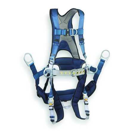 Full Body Harness,  x l, 420 Lb., Blue/Gray