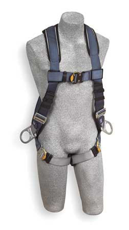 Full Body Harness, L, 420 lb., Blue/Gray