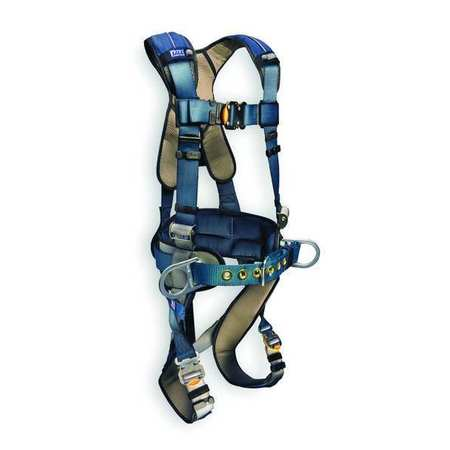 Full Body Harness, L, 420 lb., Blue/Gray