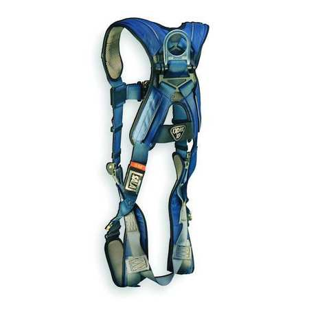Full Body Harness, S, 420 lb., Blue/Gray