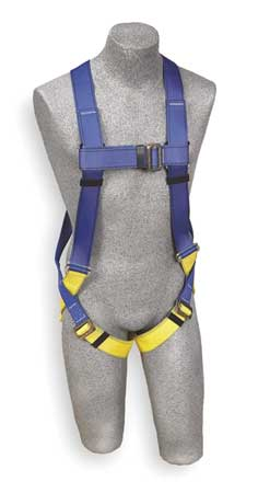 Full Body Harness, Universal, 310lb, Blk/Bl
