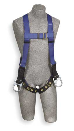 Full Body Harness, Universal, 320lb, Blk/Bl