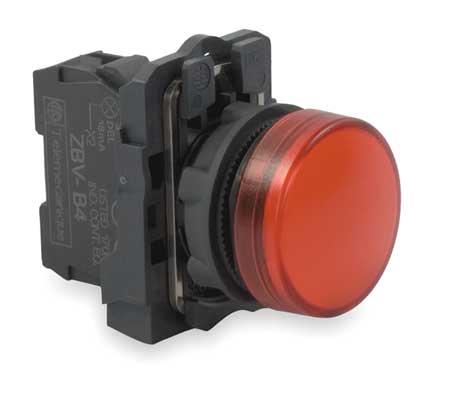 Pilot Light, LED, Red, 22mm, 24VAC/DC