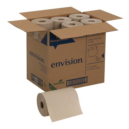 Georgia Pacific Brown Paper Towel Roll 7 7 8 Quot W X 350 L 12