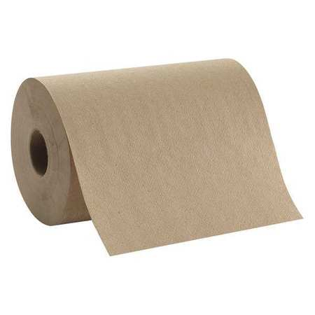"Brown Paper Towel Roll 7-7/8""W x 350'L,  12 Rolls"