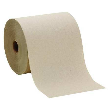"Brown Paper Towels Roll 7-7/8""W x 800'L,  6 Rolls"
