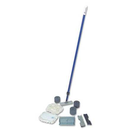 "Wall Kit w/Telescopic Handle, 7""L, Cotton"