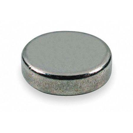 Disc Magnet, Neodymium, 10.9 lb. Pull