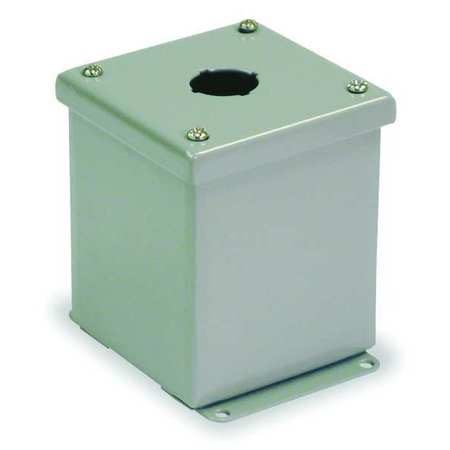 Pushbutton Enclosure, 22mm, 1 Hole, Steel