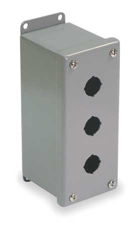 Pushbutton Enclosure, 30mm, 3 Holes, Steel