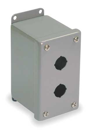 Pushbutton Enclosure, 30mm, 2 Holes, Steel