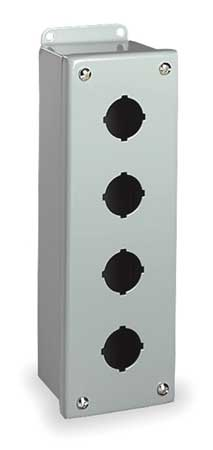Pushbutton Enclosure, 30mm, 4 Holes, Steel
