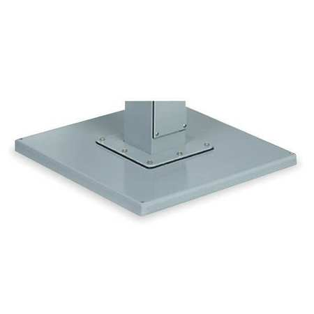 Pedestal Base, 18x18 Sq In, Steel, Gray