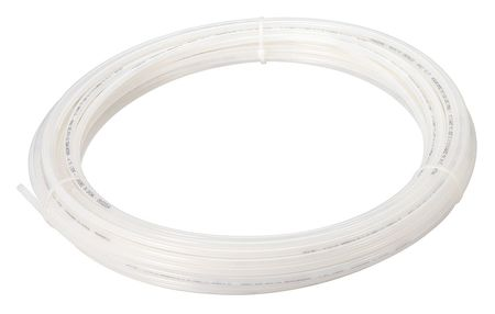 "Tubing, 3/8"" OD, Nylon, Natural, 100 Ft"