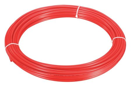 "Tubing, 15/64"" ID, 5/16"" OD, 250 Ft, Red"