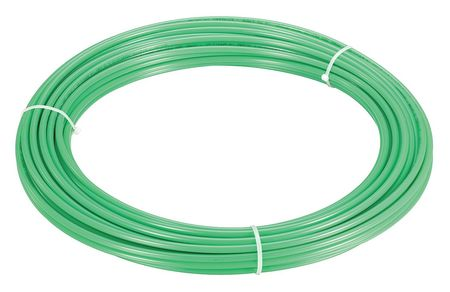 "Tubing, 1/2"" OD, Nylon, Green, 100 Ft"