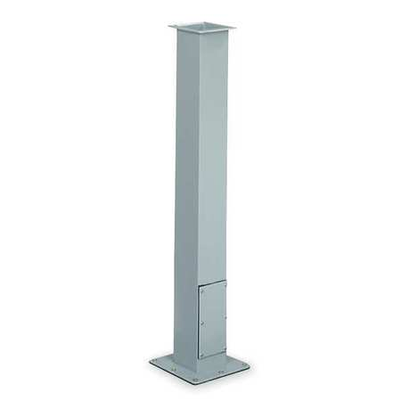 Pedestal Column, 35 In L, Straight, Steel
