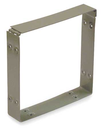 Wireway, Connector, 6x6 Sq In, Steel, Gray