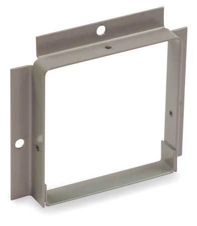 Wireway, Panel Adapter, 6x6 Sq In, Gray