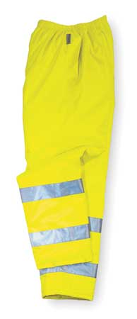 Rain Pants, Breathable,  Hi-Vis  Lime, 2XL