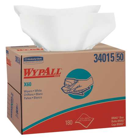 "Disposable Wipes,  12-1/2"" x 16-5/8"",  180 Sheets/ Pack"