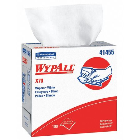"Disposable Wipes,  9-1/10"" x 16-4/5"",  100 Sheets/ Pack"