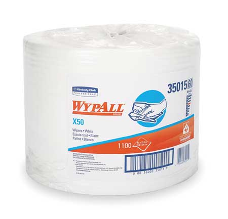 "Wypall Wiper Rolls,  9-4/5"" x 13-2/5"",  1100 Sheets/ Pack"