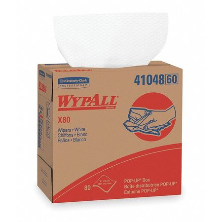"Disposable Wipes,  9-1/10"" x 16-4/5"",  5 Pack,  80 Sheets/ Pack"